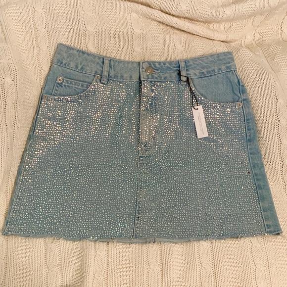 Topshop Dresses & Skirts - Crystal top shop denim skirt